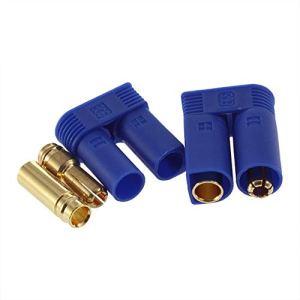 1 Set Haute Qualité EC5 Bullet Connecteurs Prises Adaptateurs Mâle/Femelle Losi Style 5mm en Gros – Bleu