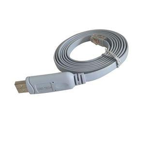 DSD TECH SH-RJ45A Câble de Console USB vers RJ45 avec Puce FTDI pour routeurs/commutateurs Cisco NETGEAR, Prise en Charge de Windows Linux Mac OS