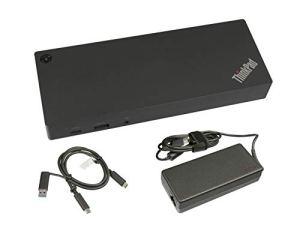 Lenovo USB-C/USB 3.0 Réplicateur de Port de INCL. Chargeur (135W) Original pour la Serie MSI P65 8RF (MS-16Q2)