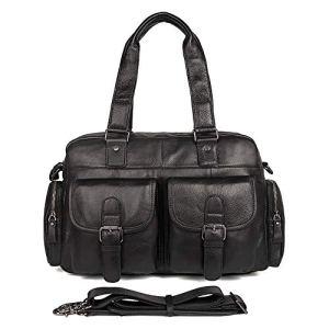 Mallette d'affaires Sac de voyage en cuir pour homme Sac à main pour homme Sacoches rétro Sac pour l'école / voyage / femme / homme-BlackBag for Schoo ( Color : Black , Size : Free size )