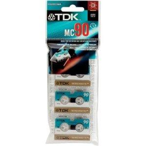 TDK MC90d–microcassette–3x 90min