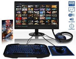 Vibox VBX-PC-261992P Unité Centrale 21.5″ Bleu (AMD, 4 Go de RAM, 1 to) Clavier QWERTY Anglais