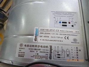 Zyvpee D2E146-AP47-C3 Ventilateur inverseur 230 V 300/330 W 1,31/1,45 A 8 uF 400 VDB M2E068-EC IP44 ACS800-07-0870