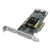 Adaptec RAID 5805 Contrôleur de stockage (RAID) 8 Canal SATA-300 / SAS faible encombrement 300 Mo/s RAID 0, 1, 5, 6, 10, 50, JBOD, 1E, 5EE, 60 PCI Express x8