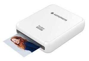 AGFA PHOTO – Realipix Square P – Imprimante Photo format carré 7,6 x 7,6 cm (3 x 3 ») via Bluetooth – Sublimation Thermique 4Pass – Blanc