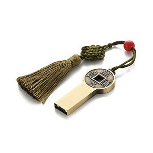 CHUXIANGJIAN Style créatif de Luxe, Style Chinois, Disque, personnalité rétro de Haute qualité, Lecteur Flash USB d'Affaires, Disque métallique U Haute Vitesse, Lecteur de Voiture USB 2.0