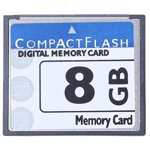 Gaoominy Professional Carte Mémoire Compact Flash 8 Go (Whiteandblue)