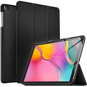 IVSO Coque Etui Housse pour Samsung Galaxy Tab A T515/T510 10.1 2019, Slim Cover Housse de Protection pour Samsung Galaxy Tab A T515/T510 10.1 2019, Noir