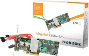 LSI MegaRAID SAS 9260-8i Carte SATA + SAS 6 Go/s à 8 Ports internes avec Interface hôte PCI-E 2.0 (Import Royaume Uni)