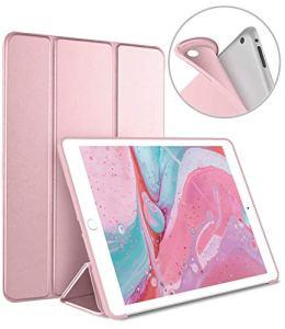 Luvfun Coque pour iPad 2018/2017, Housse pour iPad 6ème/5ème Génération Automatique Ultra-Mince Étui pour iPad 2018/2017 A1822/A1823/A1893/ A1954 -Or Rose