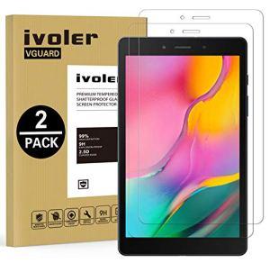 VGUARD Pack de 2 Verre Trempé pour Samsung Galaxy Tab A 8.0 Pouces 2019 (SM-T290 / SM-T295), Film Protection en Verre trempé écran Protecteur Vitre – Anti Rayures – Ultra Résistant Dureté 9H
