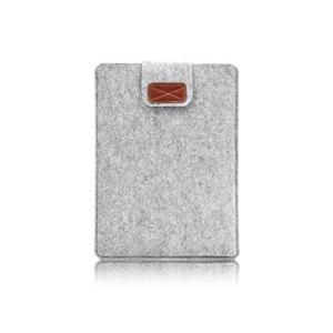 Feutre léger de Protection pour Ordinateur Portable Sac Pochette Sac Pochette Mince Housse de Protection Convient pour Macbook Air 13.3 Pouces Gris Clair