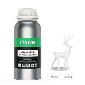 eSUN LCD UV 405nm Plant-based Rapid Resin Biodégradable Résine pour Photon LCD Photopolymère Liquide Impression 3D Matériaux 500ml Blanc