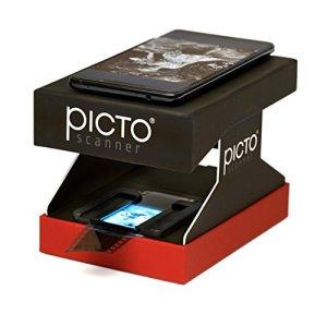 PictoScanner | Scanner de Négatifs et Diapositives 35mm | Utilise Uniquement Votre Smartphone – Pas d'Ordinateur requis | Convertit Vos Négatifs (N&B et Couleur) et Diapositives en Photos Numériques
