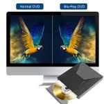 Yomera Lecteur Graveur Blu Ray DVD Externe 3D 4K, Portable Blu-Ray Lecteur USB 3.0 & Type-C Graveur CD DVD-RW ROM Compatible avec Windows XP/7/8/10, Vista, MacOS pour MacBook, Laptop, Desktop