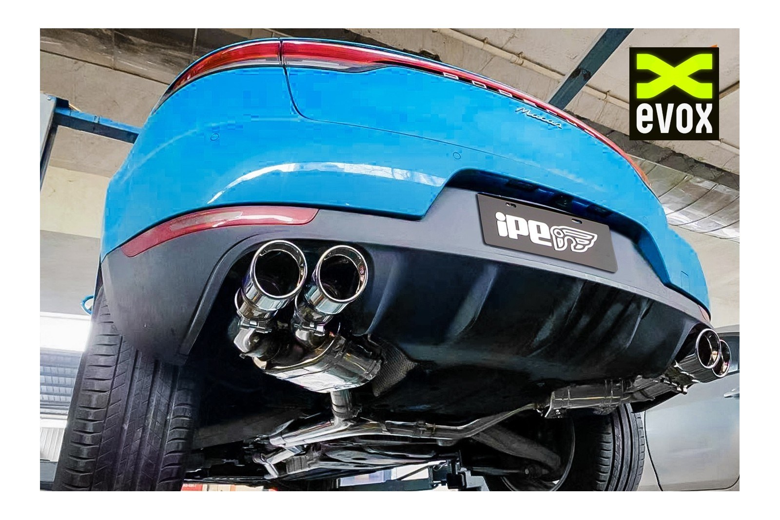 ipe exhaust system porsche macan 2 0l