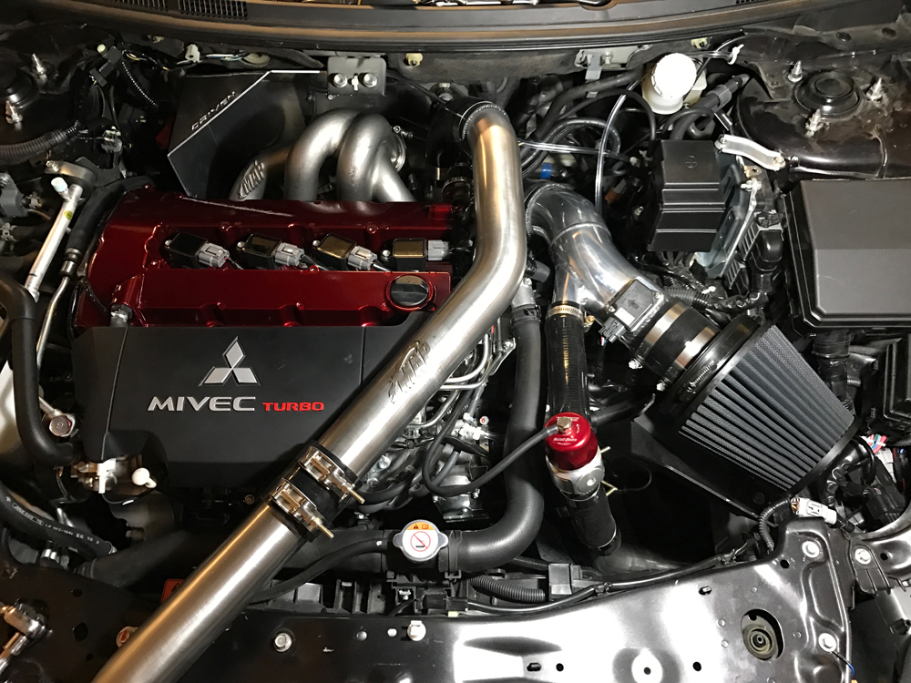 evo x turbo manifold cast and tubular