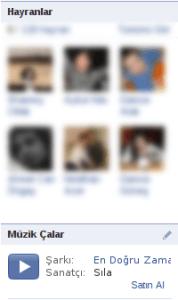 Facebook Müzik Çalar