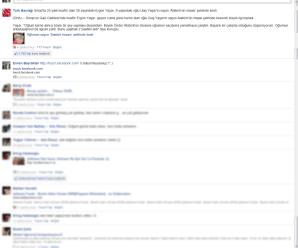 Dokunmatik facebook sitesi