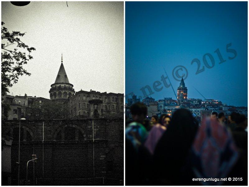 Farklı tarihlerde çektiğim Galata Kulesi fotoğrafları 'leke' ve 'net'lik yönünden tartışılabilir.