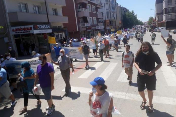 Saros için yürüyüş düzenlendi