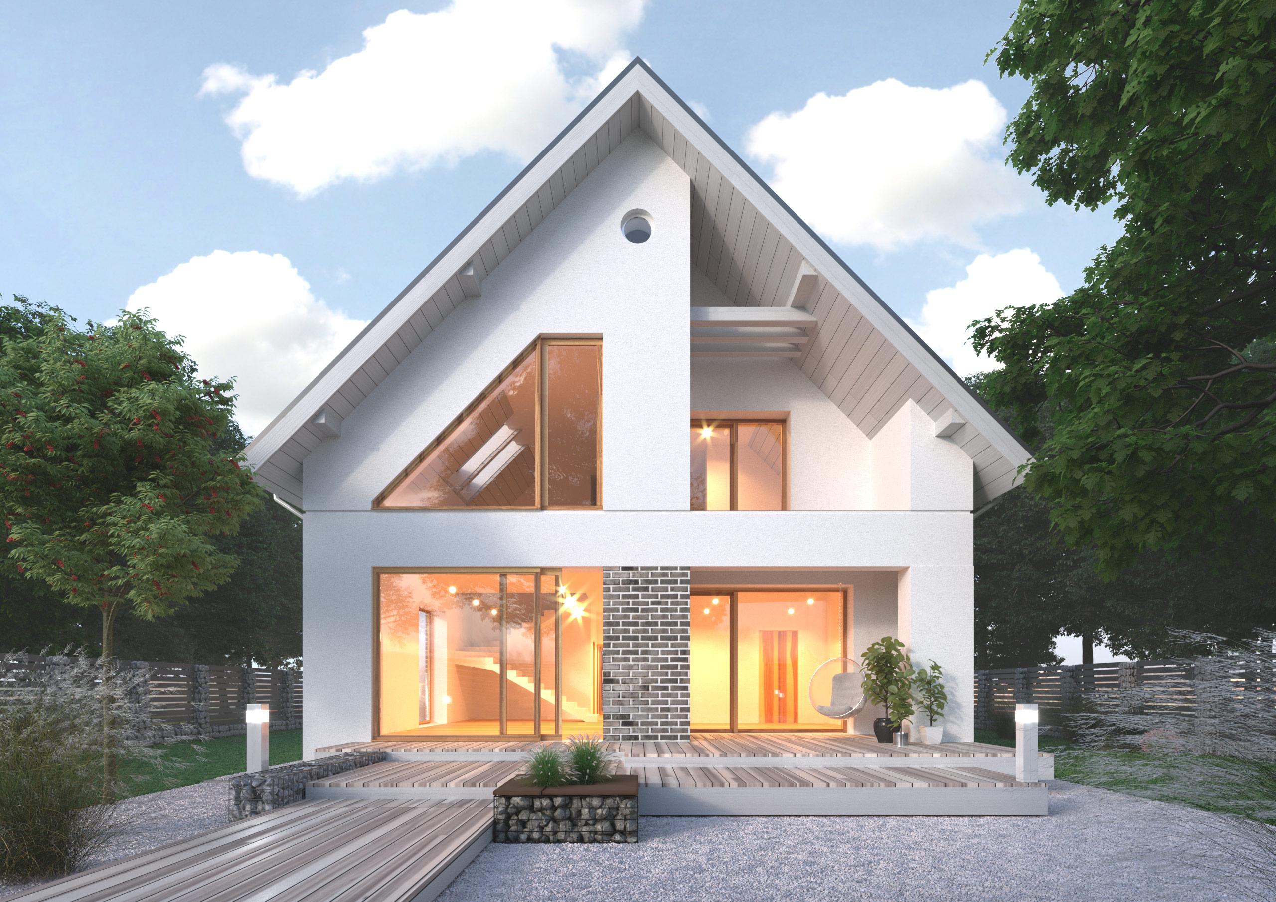 К39-2Э-227 «Проект двухэтажного пятикомнатного мансардного дома»