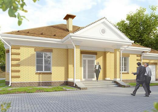К10-1Э-162 «Проект одноэтажного дома с гаражом в Белгороде»