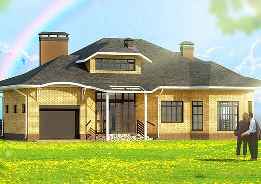 К16-2Э-179 «Двухэтажный трёхкомнатный жилой дом мансардного типа»