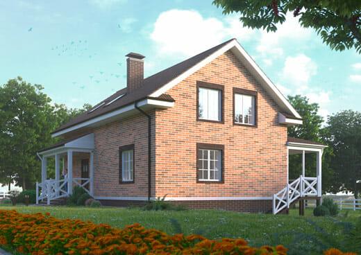 """К41-2Э-223 """"Проект двухэтажного 6-комнатного жилого дома мансардного типа"""""""