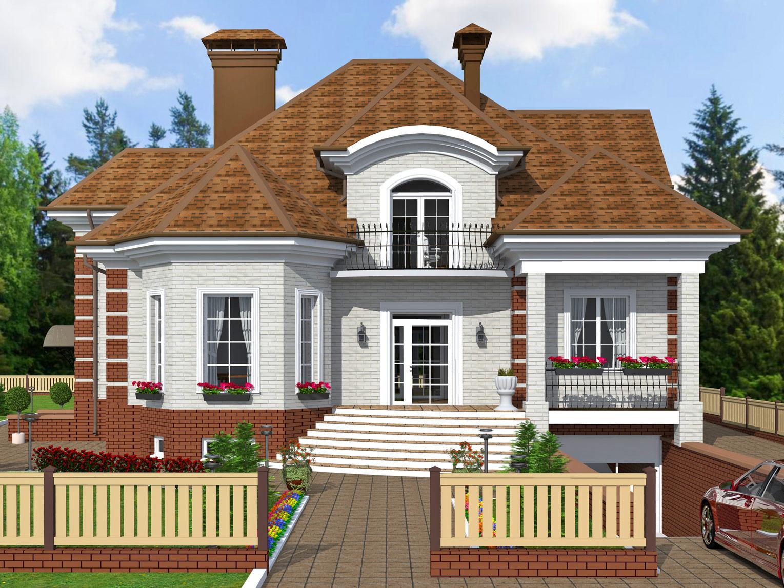 К35-2Э-368 «Проект 2-этажного 5-комнатного мансардного жилого дома»