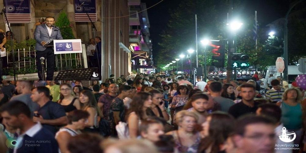 Χατζημιχαήλ: Υπέροχη, μαγική γιορτή για την Αλεξανδρούπολη(video+φωτό)
