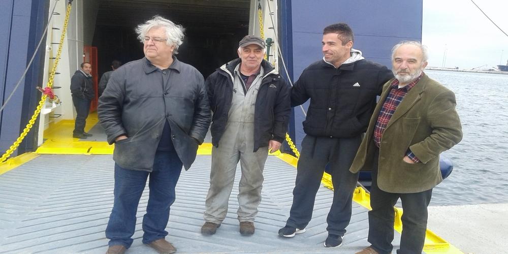 Ο Πρόεδρος του ΟΛΑ Χρήστος Δούκας επισκέφθηκε το ΣΑΟΝΗΣΟΣ στο λιμάνι