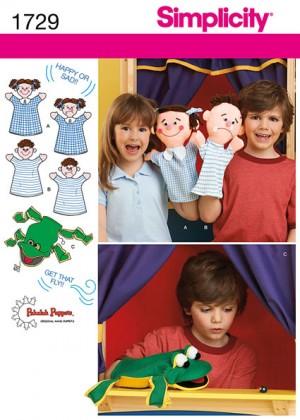 Выкройка Simplicity — Куклы-марионетки - S1729 ()