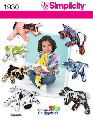 Выкройка Simplicity — Мягкие игрушки - S1930 ()