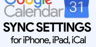 Google Calendar Sync Settings
