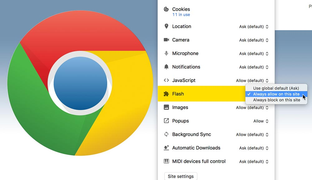 How to enable Flash Player in Google Chrome the easy way