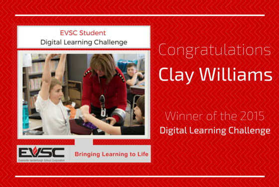 EVSC Student Digital Learning Challenge Winner!
