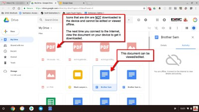 Google Drive Offline - Available Files