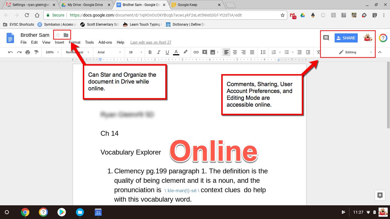 How to Use Google Apps Offline (No Internet) - EVSC Students