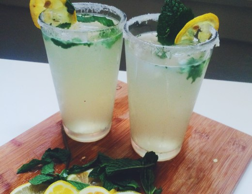 Ginger Mint Lemon Gin Cocktail- This refreshing cocktail is perfect for the summer! Sweet, light, and crisp!