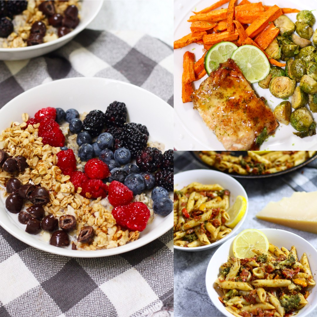 Breakfast, lunch, and dinner covered with these 3 healthy recipes to help you jump start 2017 and stick to those New Year's resolutions!