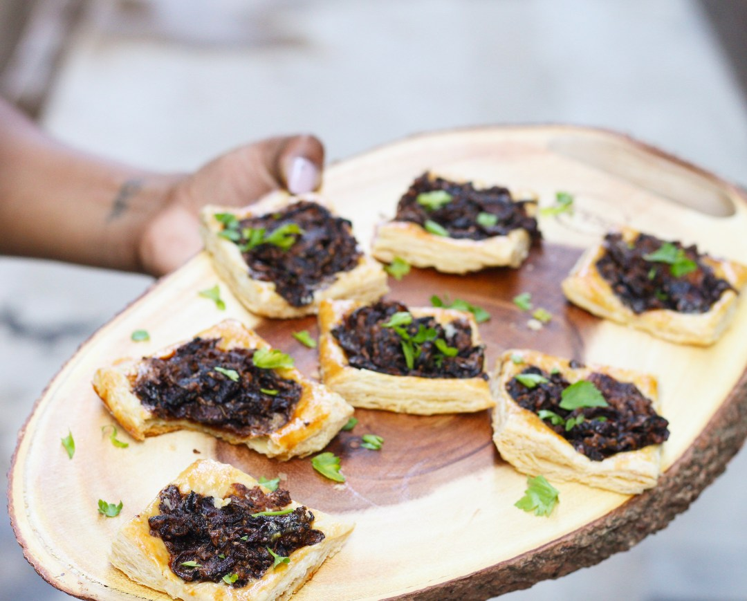 Elegant and perfect for entertaining, these Gruyere, Mushrooms, & Caramelized Onion Tarts are easy and BIG on flavor