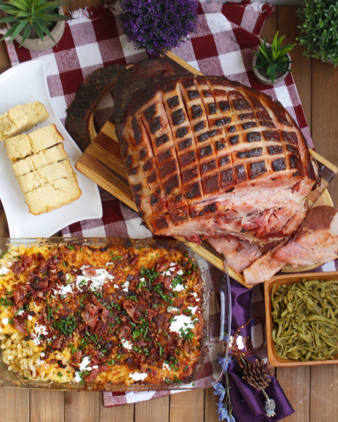 Spice up your holiday feast with these twists on you favorite holiday classics, Holiday Ham and Macaroni and Cheese with Farmer John LA.