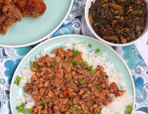 Bring some luck and prosperity into the New Year with this traditional flavorful Southern Hoppin John. Classic dish meant to be eaten in the New Year.