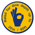 ewa-marine rated to a dive depth of up to 20m / 60ft