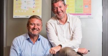 Olivier Deharchies et Olivier Lefevre Responsables Crédit Moderne pour la Distribution et Auto:Entreprise