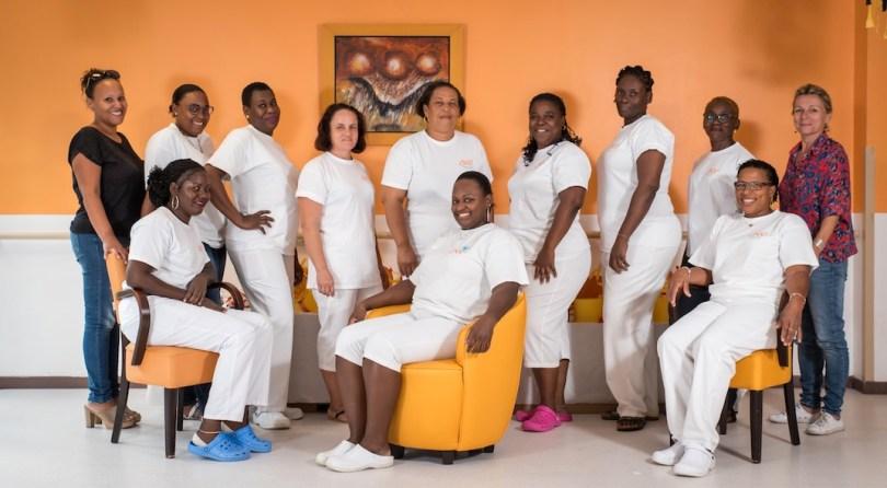 l'équipe de CNF Santé intervenant à l'EPAD Soley an nou