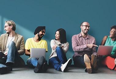 Diverse People Friendship Digital Device Copy Space Concept