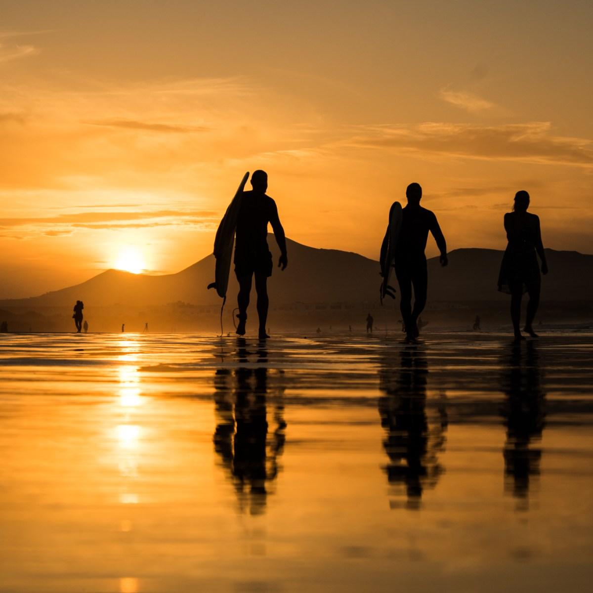 Plaża La Famara Lanzarote