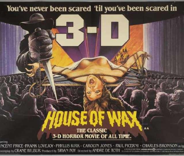 House Of Wax  British Quad Film Poster